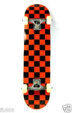 "Blank Checker Red Complete 7.75"" Skateboard 7ply Maple Deck 5.0 Truck 52mm Wheel"