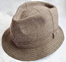 GERMANY-VINTAGE AUTHENTIC ROCKEL WOOL BLEND MEN'S FEDORA HAT SIZE:US6 7/8;EU55