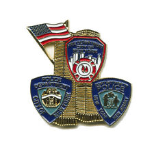 09/11 Terroranschläge 9.11.2001 World Trade Center USA Metall Pin Anstecker 0422