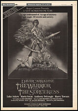 The WARRIOR and the SORCERESS__Original 1984 Trade AD / poster_screening promo