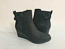 UGG INDRA BLACK WATERPROOF LEATHER WEDGE BOOT US 9.5 / EU 40.5 / UK 8