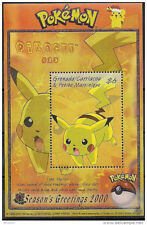 Grenada Grenadines 2001 Pikachu Sovenir Sheet - Scott 2285 NH
