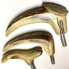 Solid Hand Carved Buffalo Horn Classic Styles Cane Handles - New