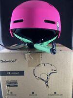Retrospec Traverse H3 Youth Ski & Snowboard Helmet Matte Magenta Small (52-55cm)