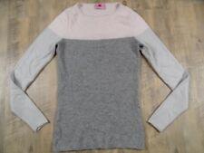 HERZENSANGELEGENHEIT schöner Kaschmir Pulover grau rosa silber Gr. 38 NEUw.  917