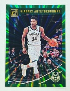 2018-19 Panini Donruss Giannis Antetokounmpo Green Laser /99 Milwaukee Bucks