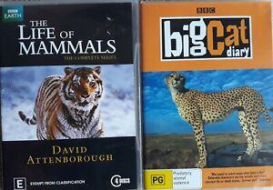 "DOCUMENTARY x 2      ""THE LIFE OF MAMMALS  /  BIG CAT DIARY""    R.4    DVD's"