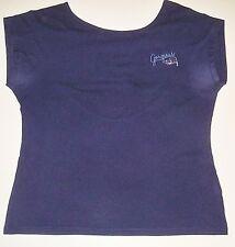 Damen Top ohne Arm überschnittene Schulter FISHBONE Gr. L dunkelblau Netzrücken