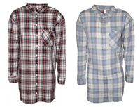 Women's Check Casual Long Shirt Blouse H&M Long Sleeve Fitted Cotton