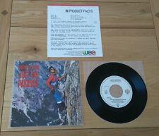 "David Lee Roth Just Like Paradise 1987 German 7"" With Promo Sheet Hard Rock"