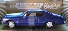 1970 CHEVROLET CHEVELLE (blue) - ANSON Model #10107: Collector's Quality Model