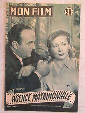 MON FILM 323  (1952)  AGENCE MATRIMONIALE BERNARD BLIER MICHELE ALFA