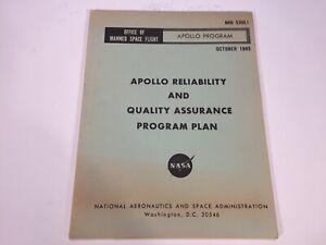 Vintage 1965 NASA Saturn Rocket Apollo Program Reliability & QA Manual NHB 5300
