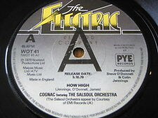 "Cognac Featuring The Salsoul Orchestra-How High 7"" vinyl promo"