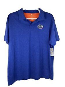 New Colosseum University of Florida Gators Polo Sz XXL Blue Orange Embroidered