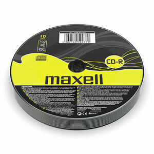 Maxell CD-R | Recordable Blank CD Discs + Sleeves 1/5/10 Pack | 80 Min 52x 700MB
