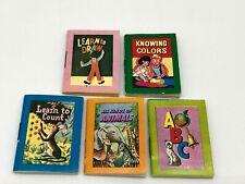 Vtg B. Shackman Miniature Children's Books 1.5x2 Count Color Draw ABC