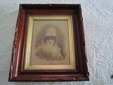 Antique Victorian Carved Walnut DEEP SHADOWBOX FRAME w/Glass &Backboard $89.99