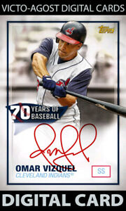 Topps Bunt 70 Years S3 Omar Vizquel RED SIGNATURE SUPER RARE - 1 Card [BUNT APP]