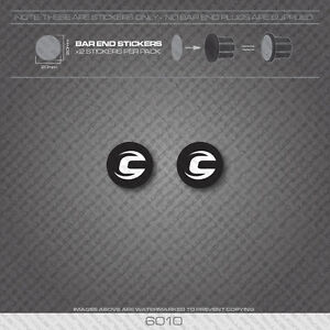 6010 - Cannondale Bicycle Handlebar Bar End Plug Stickers - Decals