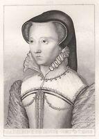 Madeleine de Savoie Duchesse DE Montmorency Gravure XIXe