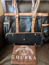 New Ghurka Heritage Black Pebbled Leather Tote Bag / Large Handbag