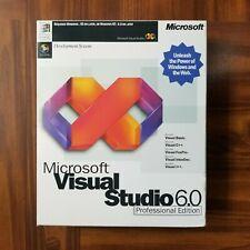 Microsoft Visual Studio 6 6.0 Professional Basic C++ J++ 659-00143