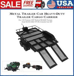 Trailer Car Cargo Carrier Metal Kit for 1/10 Tamiya Axial SCX10 RC Crawler Car