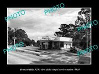 OLD LARGE HISTORIC PHOTO OF PENNANT HILLS NSW AMPOL OIL Co SERVICE STATION 1950