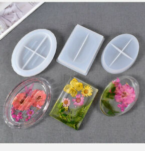 Silicone Resin Casting Mold Soap Dish Holder Jewelry Plate Tray Epoxy Mould Tool