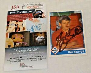1992 Traks NASCAR Card #114 NEIL BONNETT Autographed Signed JSA Rare Authentic