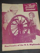 The State: Down Home In North Carolina 1954, Handicrafts of the N.C. Highlands
