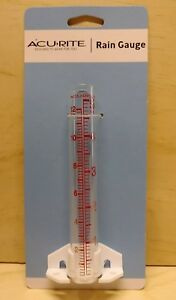 "AcuRite Glass Rain Gauge  5"" Capacity water gauge. Monitor lawn/garden watering"