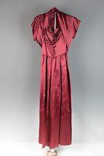 VTG 1940s Women's Floor Length Satin Gown 40s Glamour #1686 Long