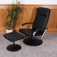 Relaxsessel Siena mit Hocker schwarz