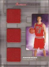 JOAKIM NOAH 2007-08 Bowman Relics Triple Jersey Rookie  #/25