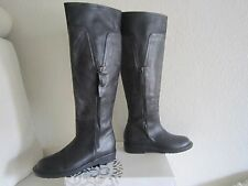 ALBERTO FERMANI Women's dark brown/grey tan Leather Boots Made  Italy Sz 39 US 8