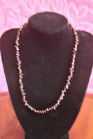 Vintage Natural Garnet Single Strand Necklace