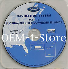05 2006 2007 FORD ESCAPE NAVIGATION MAP DISC CD 11 FLORIDA PUERTO RICO VI VER 4V