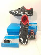 NEW Shimano SH-R170L Carbon Sole Cycling Shoes EU 47 US 11.5-12 w CLIPS & PEDALS
