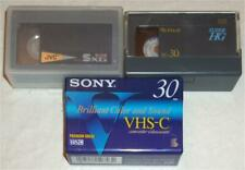 3 Vhs-C Camcorder Videocassettes ~ 1 New & 2 Used