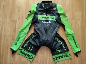 Castelli Cannondale Garmin Pro Team Men's Long Sleeve Skinsuit Progettox2 Pad  M