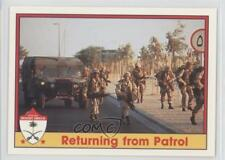 1991 Pacific Operation Desert Shield #18 Returning From Patrol Card 1e6