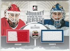 2011-12 Between The Pipes Journey Jersey Dual Ed Belfour  #JJ15 Blackhawks Maple
