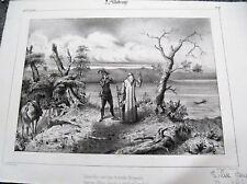 a1-9 Gravure lithographie 19e Sylve Bénite Dauphiné