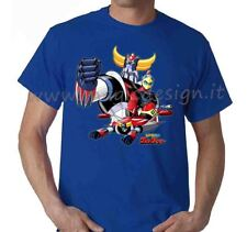 T-SHIRT GOLDRAKE UFO ROBOT TSHIRT UOMO BIMBO CARTOON ANNI 80 ANIME TG. FINO 5XL