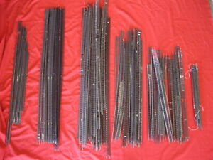 LOT OF HO SCALE FLEX TRACK CODE 83 NICKEL SILVER USED 93 PIECES VARIOUS LENGTHS