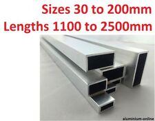 ALUMINIUM RECTANGULAR BOX SECTION 30mm 35mm 40mm 50mm 60mm 120mm 200mm upto 2500