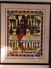 Tragically Hip 1996 Tour silk screen printed poster - signed,framed,mint