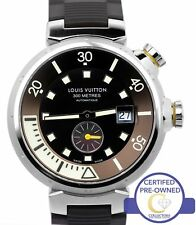 Louis Vuitton Tambour Diving Watch 300M Brown 44mm Q103 Automatic Rubber Watch